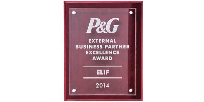 P&G'den Elif'e bir kez daha 'Mükemmellik Ödülü'!